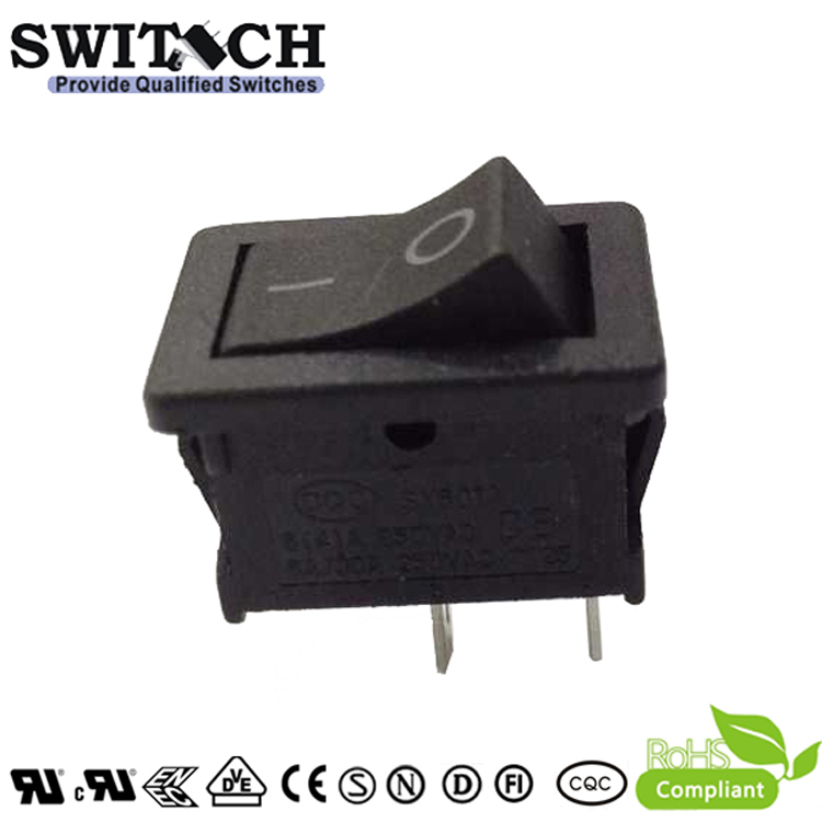 SY601B-SW101011BB 2 pins ON-OFF SPST mini rocker switch for sweeping machine, vacuum cleaner