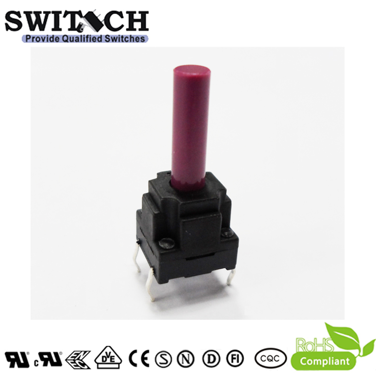 TS10W-236C 10*10mm waterproof tact switch height is 23.6mm push button switch 4 pins DIP switch momentary tactile switch