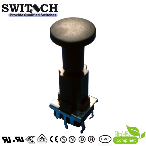 TS10W-337C IP67 waterproof 10*10 tact switch,  height is 33.7mm, normally closed tact switch, meet ROHS compliant