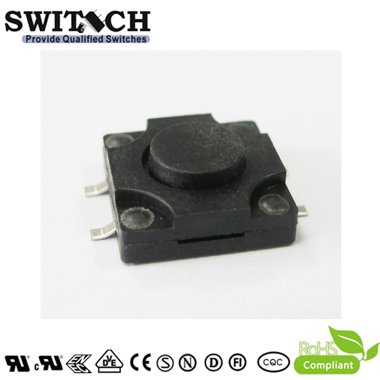 TS12W-050C-G15.5 12×12mm 5mm height customized SMD IP65 tact switch
