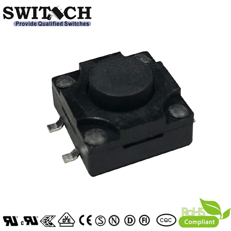 TS12W-070C-G15.5 12×12mm 7mm height SMD IP65 waterproof tact switch