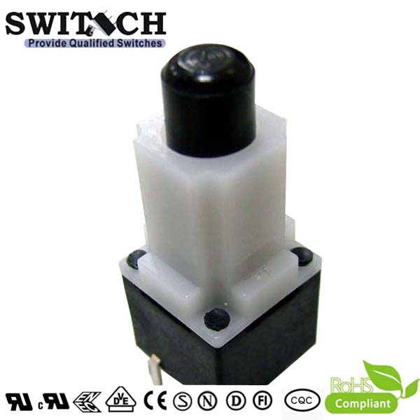 TS12W-288C plastic tact switch with  height 28.8mm, 12*12mm, best seller mini tact switch, 4 pins ROHS waterproof tactile switch