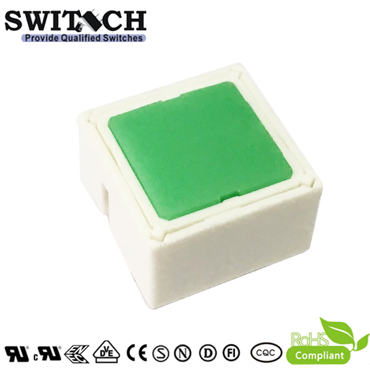 TS15I-097C-E-E00E 15x15mm Illuminated Tact Switch with Green LED Rafi Replacement