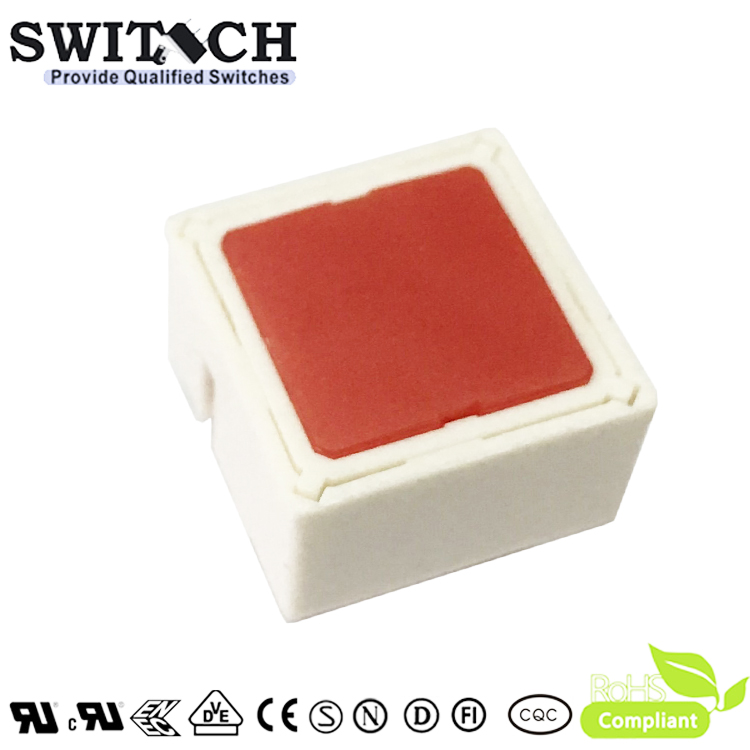 TS15I-097C-R-R00R 15x15mm Illuminated Red LED Tact Switch Replace Rafi