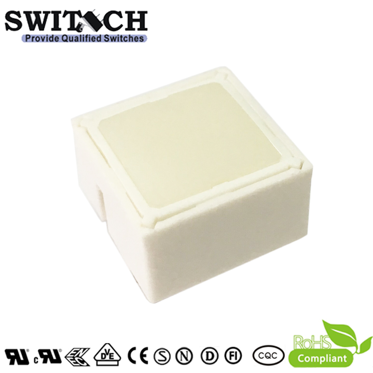 TS15I-097C-W-W00W 15x15mm Illuminated Tact Switch with White LED Alternative Rafi