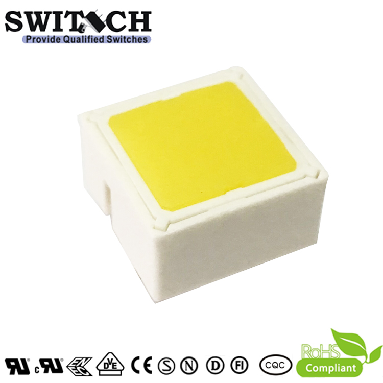 TS15I-097C-Y-Y00Y 15x15mm Illuminated Tact Switch with Yellow LED Rafi Alternative