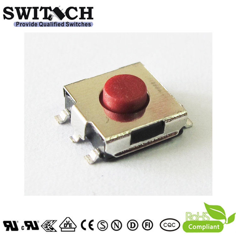 TS2A-031B(R)-G8-P 5 Pins 3.1mm 160gf Tact Switch with Ground Pin
