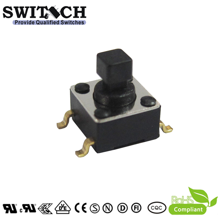 TS2A-073C(S)-G9-08 square button gold plated tactile switch for alarm