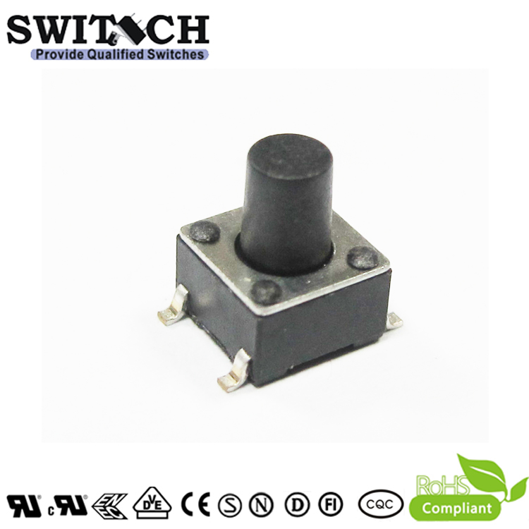 TS2A-075B-G8 6*6mm Standard NO Tactile Switch with Rhos