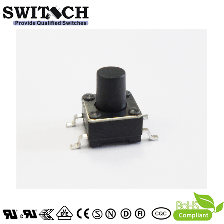 TS2A-060C-G9 6×6mm SMD tact switch 6mm height from Chinese factory