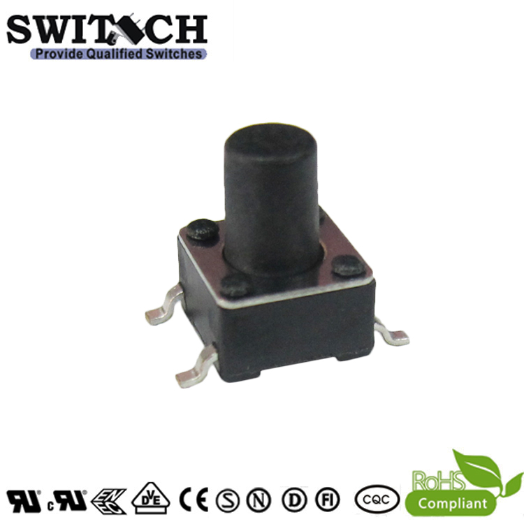 TS2A-090C-G9 6×6mm 9mm SMD tact switch from China manufacturer Alps equivalent