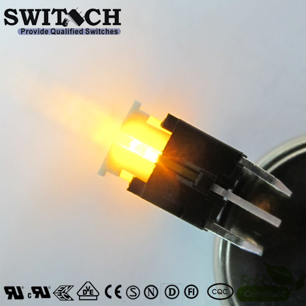 TS2I-072C-Y High Quality 6x6mm Illuminated Yellow LED Tact Switch