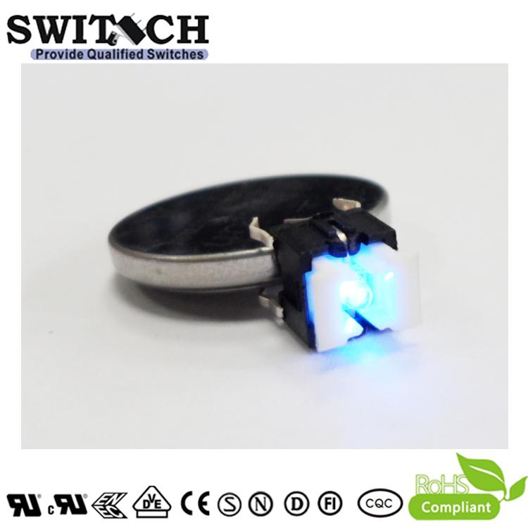 TS2I-072C-U Export 6x6mm Illuminated Blue LED Tact Switch with RoHS