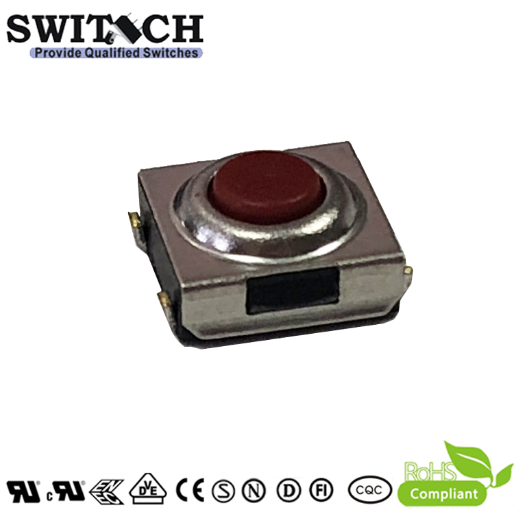 TS2W-031C(R)-J7 6×6mm 3.1mm height waterproof tact switch