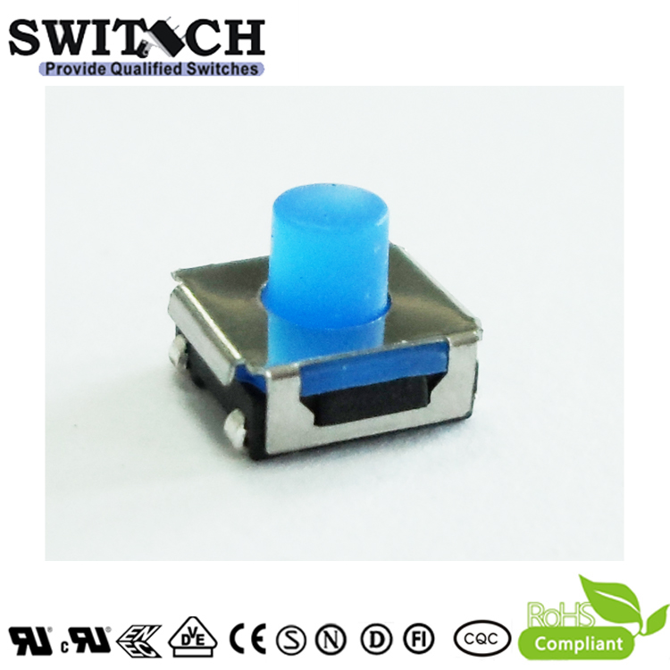 TS2W-050C-J6.8 waterproof tact switch with rubber stem