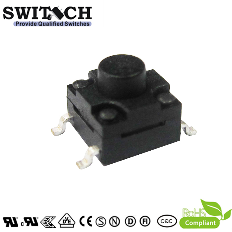 TS2W-055C-G9 6×6mm 5.5mm height IP67 water resistant tact switch from Chinese factory