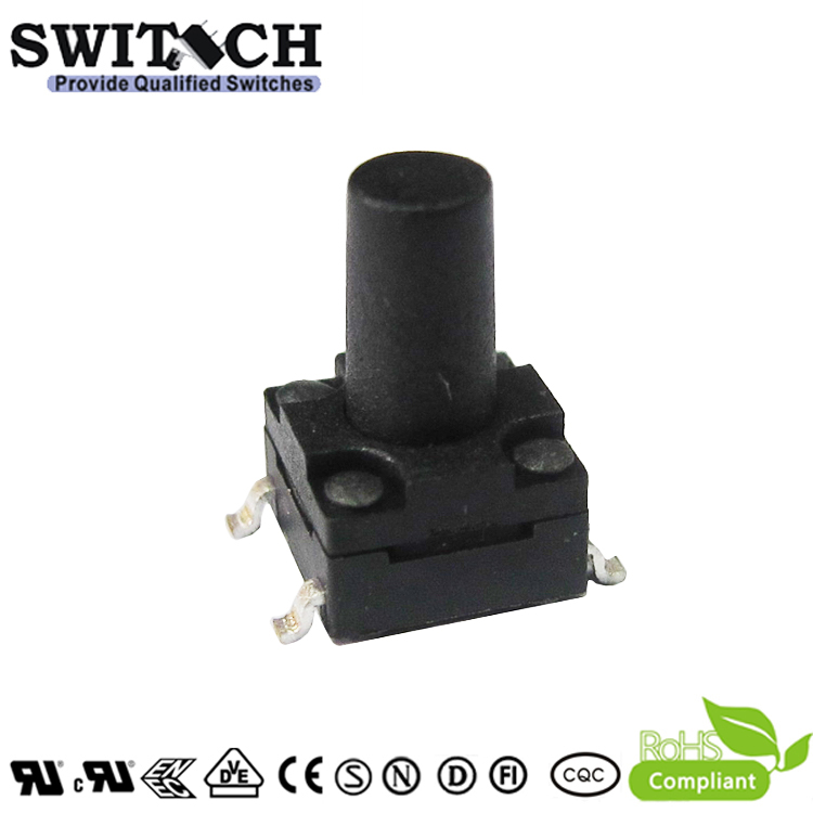 TS2W-095C-G8-HC 6×6mm 9.5mm height IP67 7-day sulfuration resistant tact switch for home application