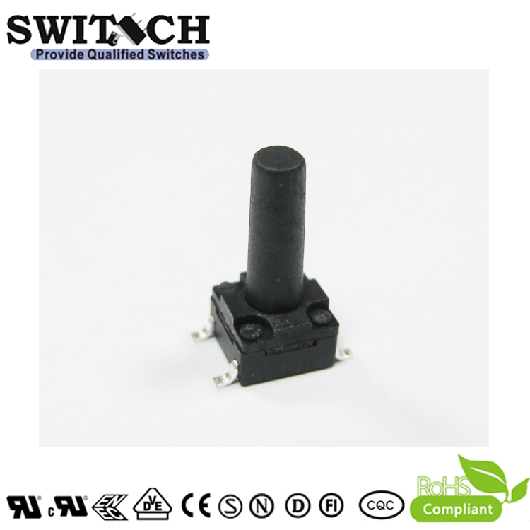 TS2W-130C-G8.5 6×6mm 13mm height customized waterproof tact switch