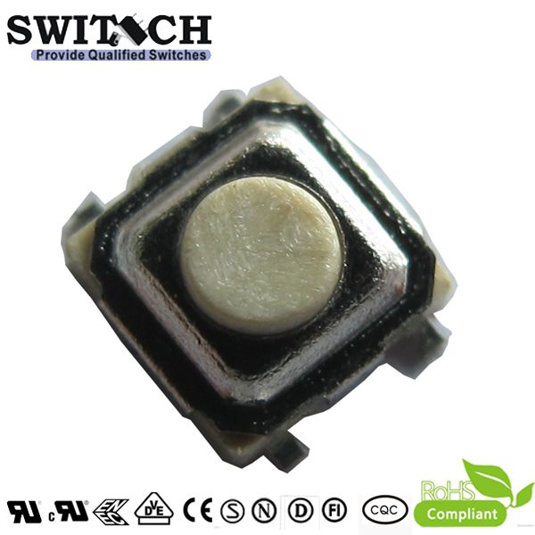 TS35A-015B-G4 4 pins tact switch to replace apls, 3.5X3.5mm, height is 1.5mm, metal logo switch, limit switch, momentary switch