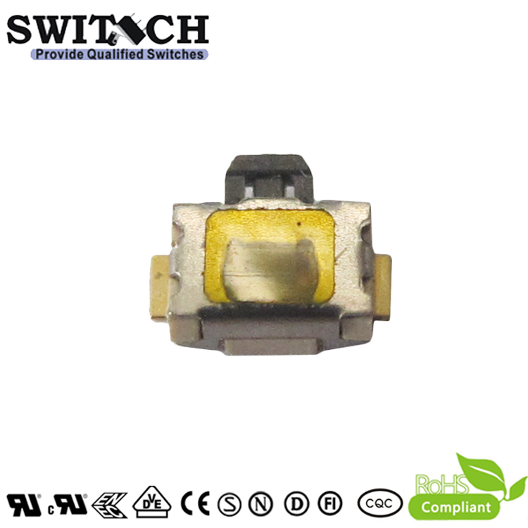 TS3929V-015B-G4.8-08 mini 3.9×2.9mm side push tactile switch with gold plating