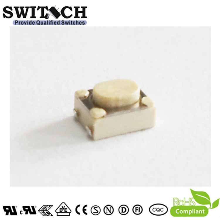 TS4232A-025C-J4.6 miniature 4×3mm 2.5m height tactile switch for toothbrush cigar lighter
