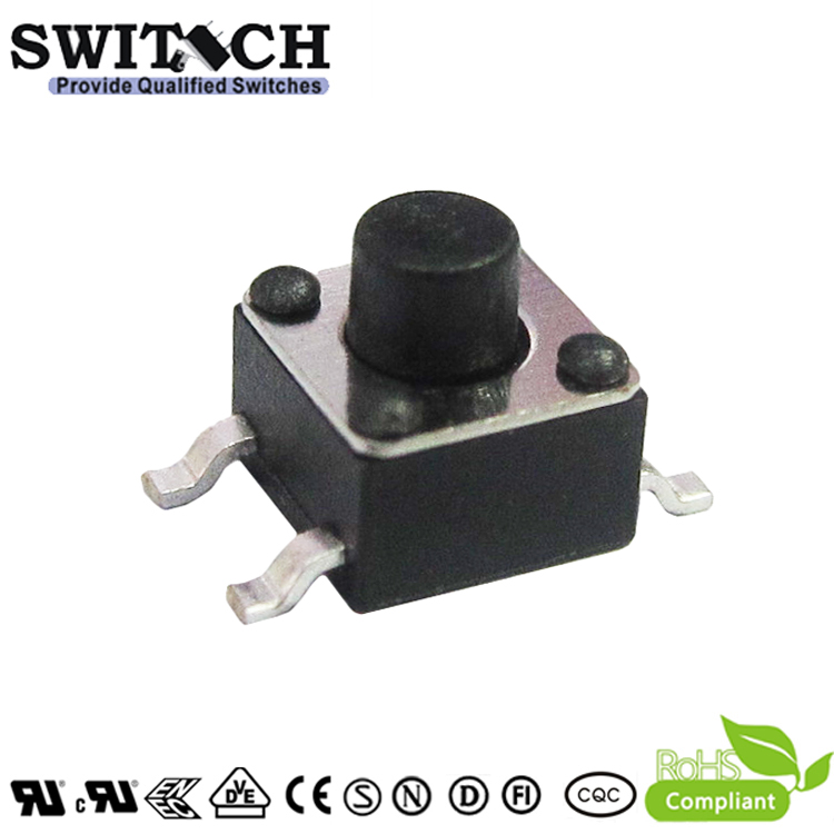 TS45A-045C-G7.5 4.5mm gull-wing tact switch 4.5mm height push button switch