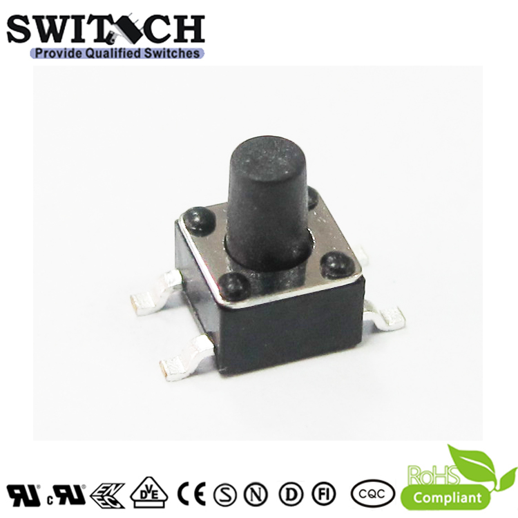 TS45A-060C-G7.5 4.5×4.5mm SMD tact switch 6mm height push button switch