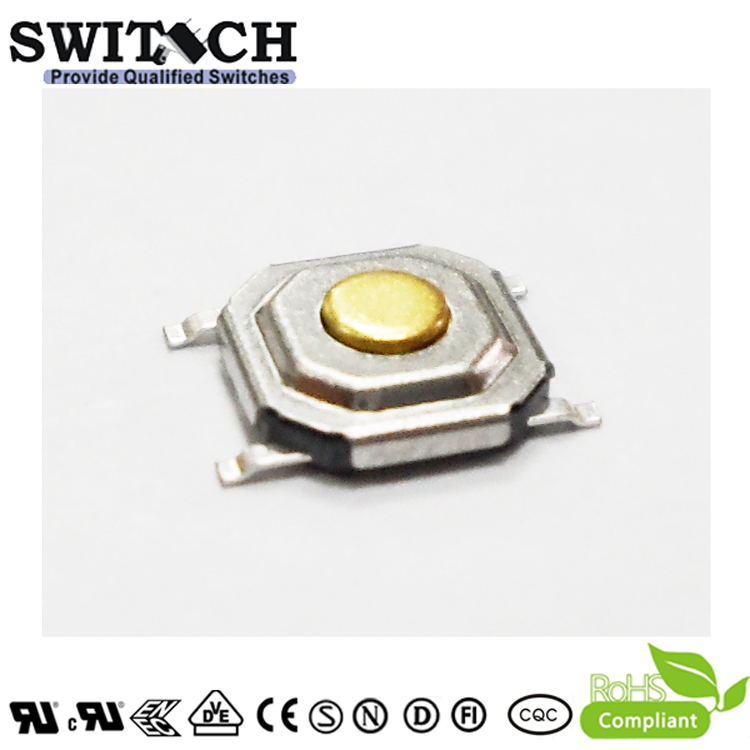 TS51A-017C-G6.4-65 5.1mm SMD IP65 waterproof tact switch 1.7mm height with export quality