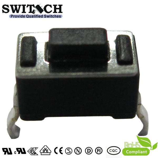 TS6035A-043B 2 pins PCB foot tact switch, 6X3.5mm height is 4.3mm, SMD SMT tactile push button switch