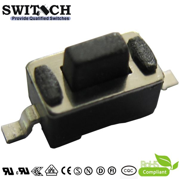 TS6035A-050C-G10 2 pins SMT tact switch, 6X3.5mm height is 5mm, reliable China manufacturer for switch, tact switch with long life