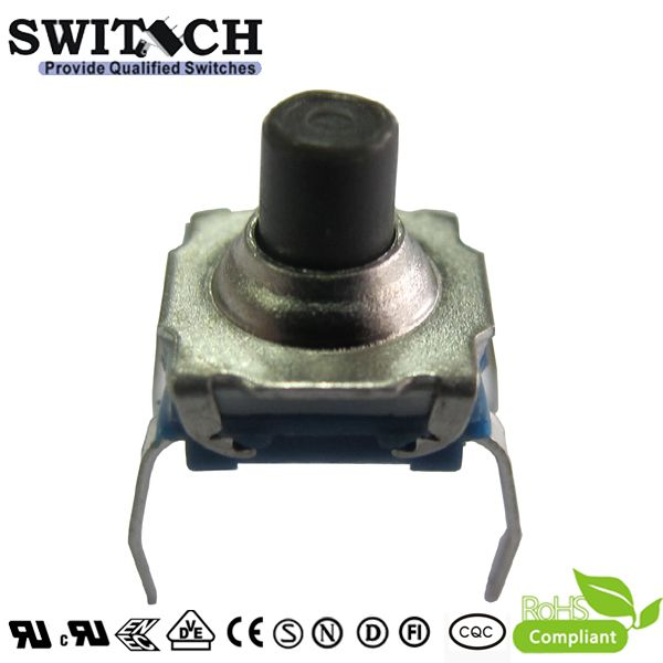 TS72W-069C IP67 7.2*7.2mm tact switch PCB foot 260gf, tact switch to repalce E-switch, 4 pins switch, waterproof switch, push button switch