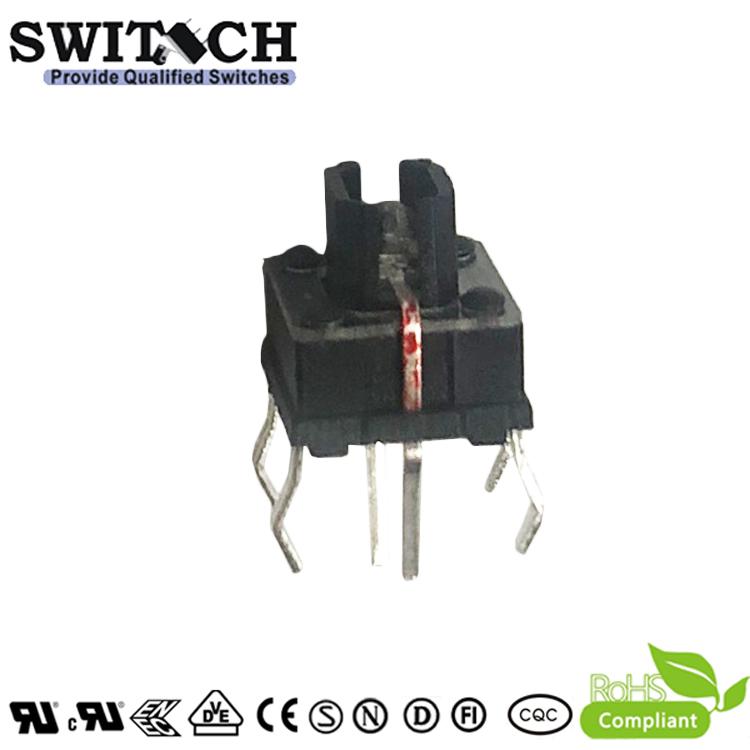 TS7I-070C-R 7x7mm Illuminated RED LED Tact Switch