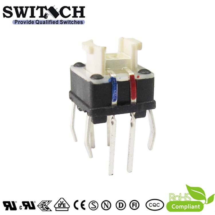 TS7I-070B-RGB High Quality 7x7mm Illuminated Tri-color LED Tact Switch
