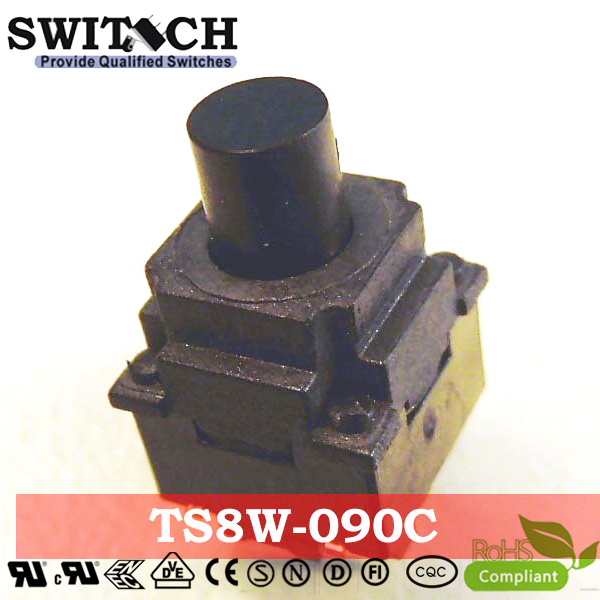 TS8W-090C waterproof IP67 tactile switch, 8X8mm, height is 9mm, high quality switch, round push button switch