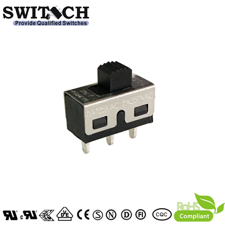 T18S-SWC-Y-O Slide Switch 1P2T 3Pins 2Way for Household Electric Appliances