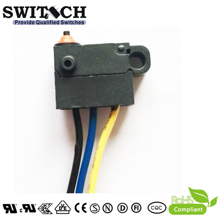 WS12-FZSW0-W150D165 YELLOW bicycle sharing Mini Snap Action Switch replace Burgess /Omron/ Cherry SPST