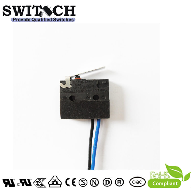 WS1-TSW3-W150D095-02 Sealed Snap Action Switch Wire Type  Lever#3
