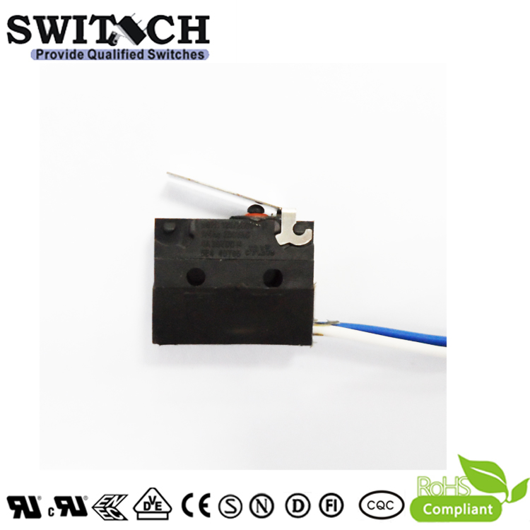 WS1-ZSW3-W150L500-03 Sealed Snap Action Switch Wire Type Arc Lever