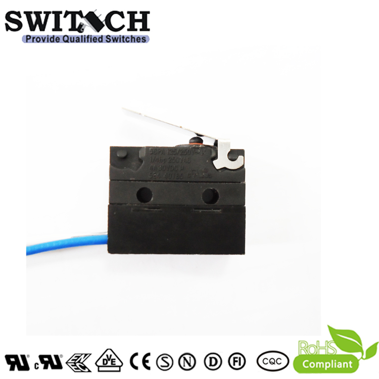 WS1-ZSW3-W200R500 Sealed Snap Action Switch Wire Type Right Lever