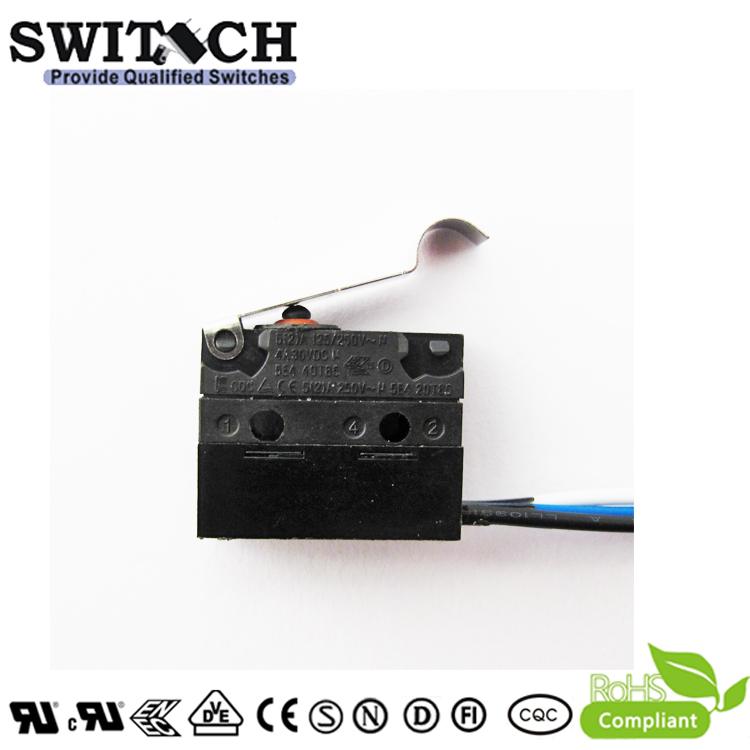 WS1-ZSW6-W150R360-02  Sealed Snap Action Switch Wire Type Right Lever