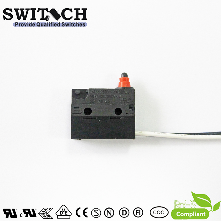 WS1L-DSW0-W150L060 Sealed Snap Action Switch Wire Type Arc Lever