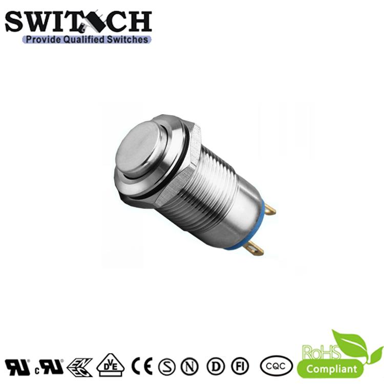 ZLQ12B-G IP65 12mm high button SUS pushbutton switch